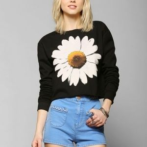 Truly Madly Deeply Daisy Cropped Sweatshirt